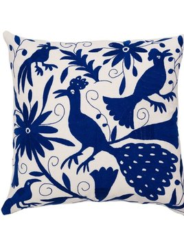 Aniza Aniza Cushion - Blue and Cream - 60x60cm