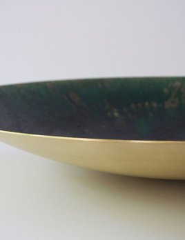 Michael Verheyden Michael Verheyden - Large Curved Brass Bowl Covered with Resin, dia 65cm