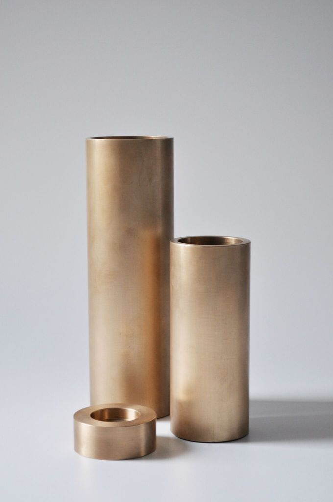 Michael Verheyden Michael Verheyden - Stationery Set of Three Bronze Cylinders