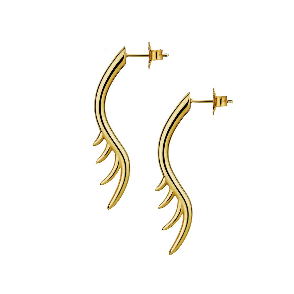Long Lashes 4cm Bar Drop Earrings by Luke Rose