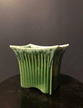 B.M.V.A. Vintage Marietta Modern Green Ceramic Vase or Planter