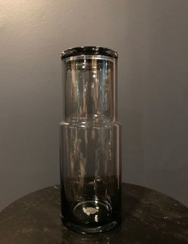 Faro - Bedside Decanter or Carafe with Tumbler - Light Grey