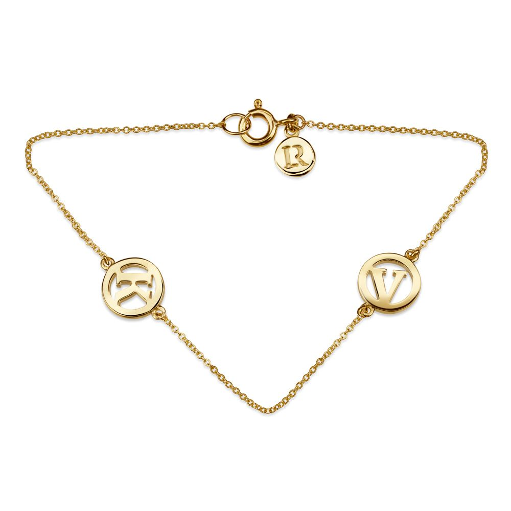 Me & My Unity 2 Initial Bracelet with  by Luke Rose - Select your own Initials