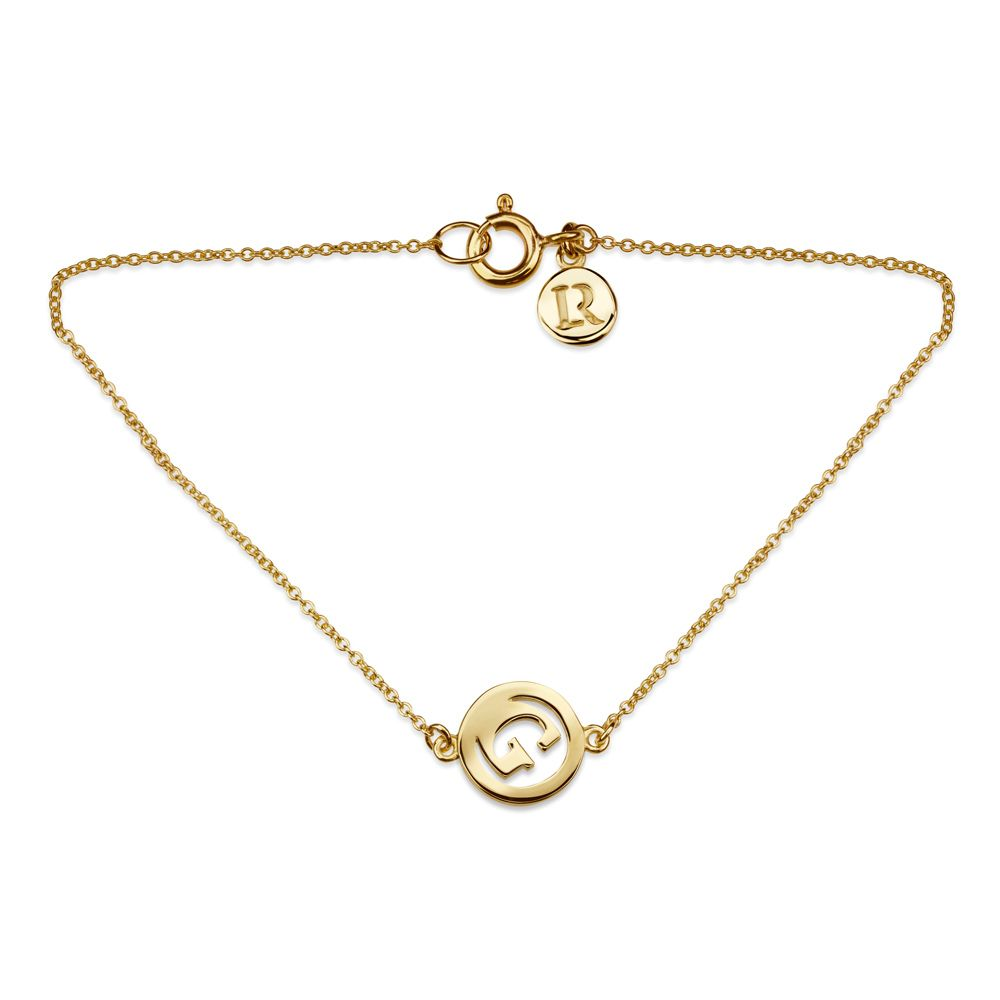 Me & My Initial Bracelet by Luke Rose - 9ct Yellow Gold
