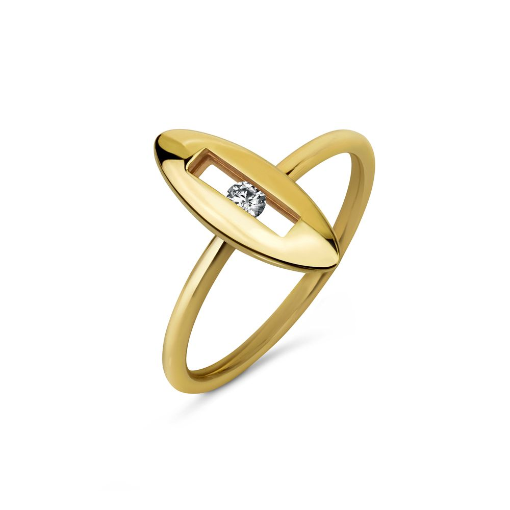 Diamond Slide Ring by Luke Rose