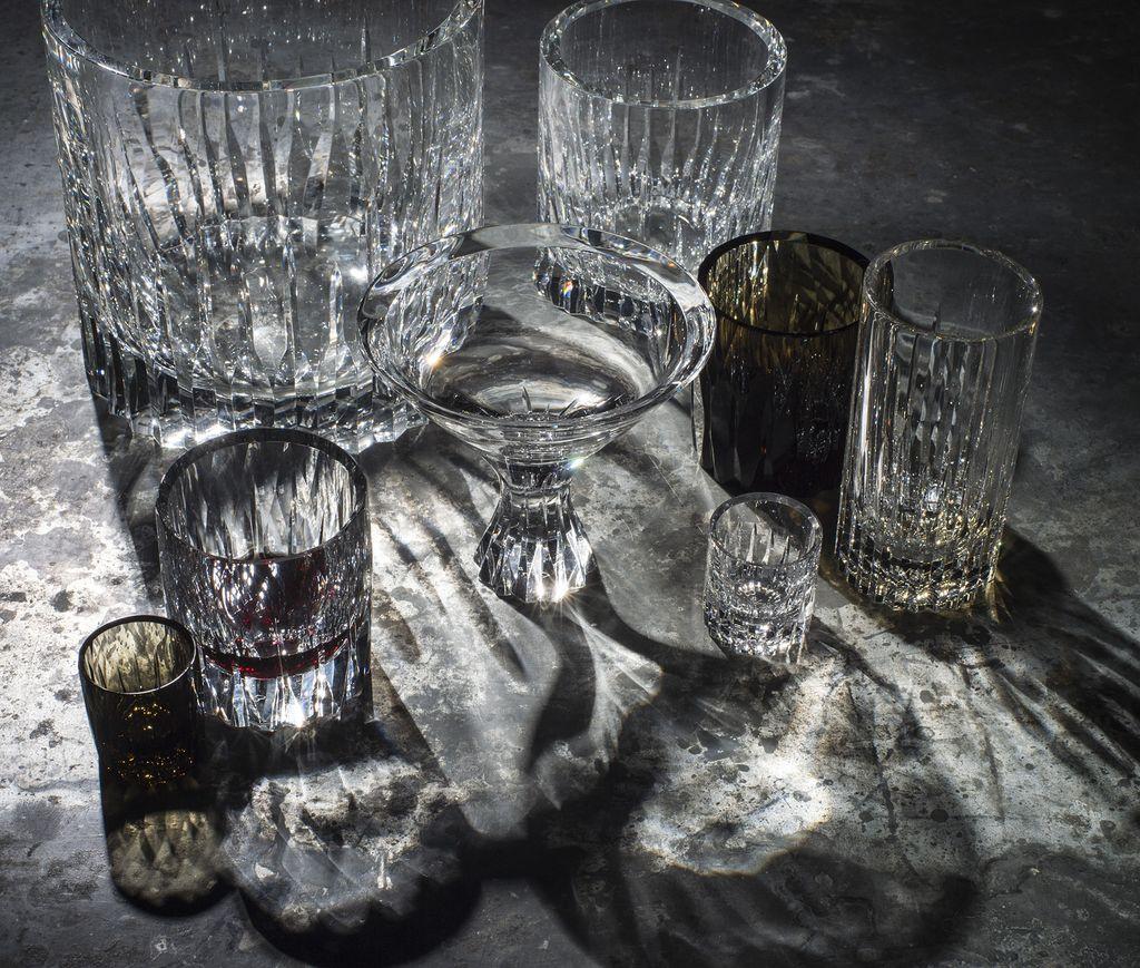 BECKER MINTY BECKER MINTY - Linear Cut Tumbler - Clear Crystal Glass
