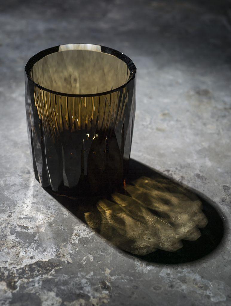 BECKER MINTY BECKER MINTY - Diamond Cut Tumbler - Dark Topaz Crystal Glass