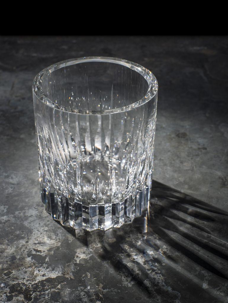 BECKER MINTY BECKER MINTY - Linear Cut Ice Bucket - Clear Crystal Glass  - 11.5x13cm