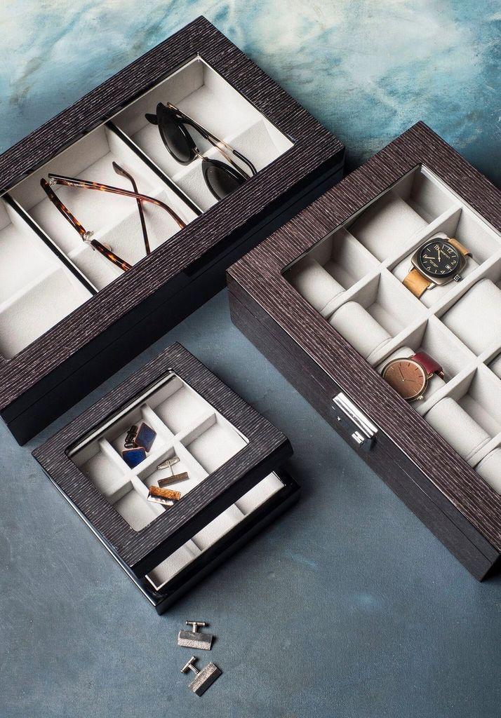 BECKER MINTY BECKER MINTY - Black Apricot Veneer Sunglass box.