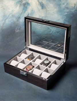 BECKER MINTY BECKER MINTY - Black Apricot Veneer - 10 Watch Box with Key Lock