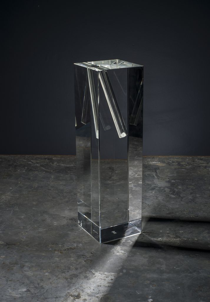 BECKER MINTY BECKER MINTY - Tall Angled Single Stem Vase - Clear - 10x10x35cm