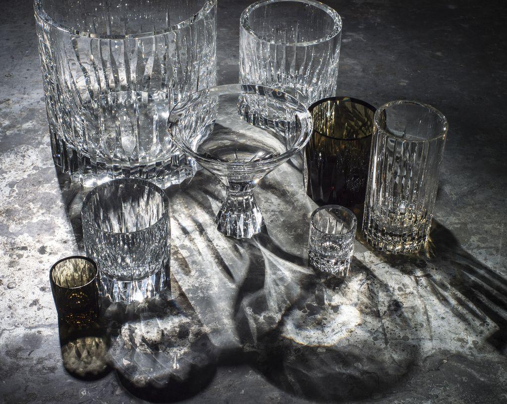 BECKER MINTY BECKER MINTY - Linear Cut Champagne Bucket - Clear Crystal Glass 19x19cm