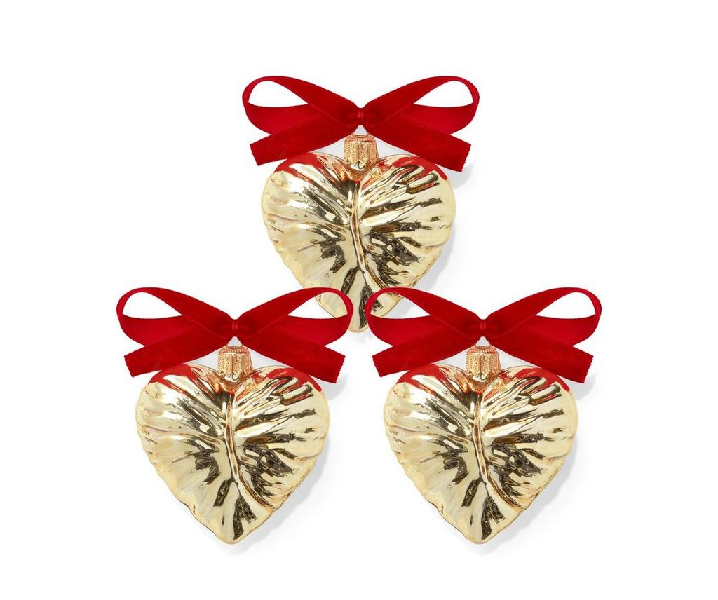 AERIN - Ambroise Christmas Ornament - Set of Three - Gold