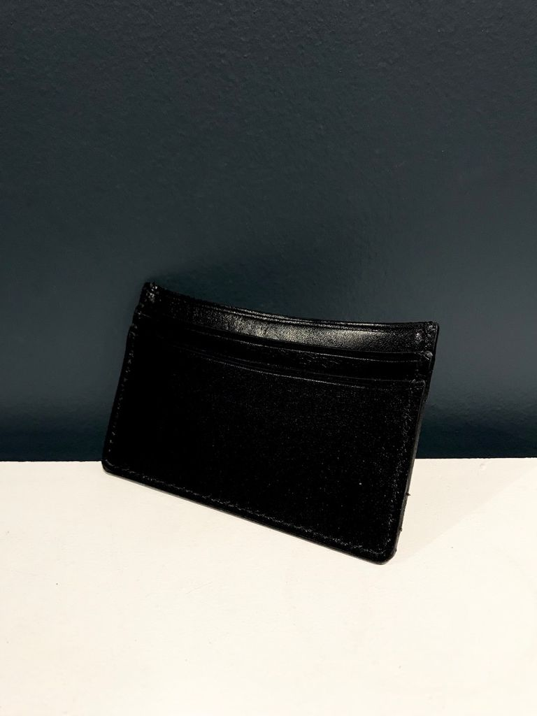 Luxury Calf Leather Credit Card Holder - Black - Germany