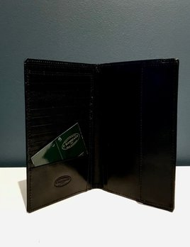 Luxury Calf Leather Passport Case - Large - Black - Germany