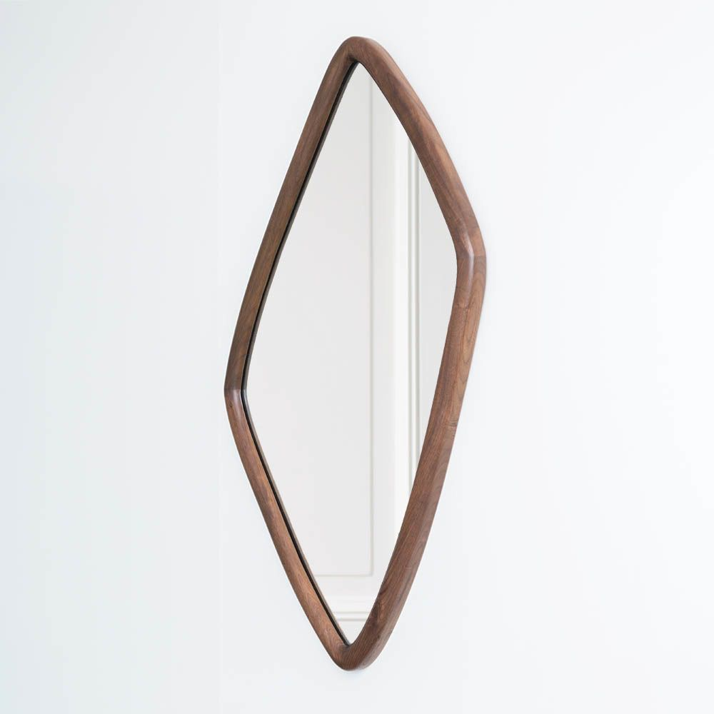 Kelly Wearstler Kelly Wearstler - Finley Mirror - Natural Walnut