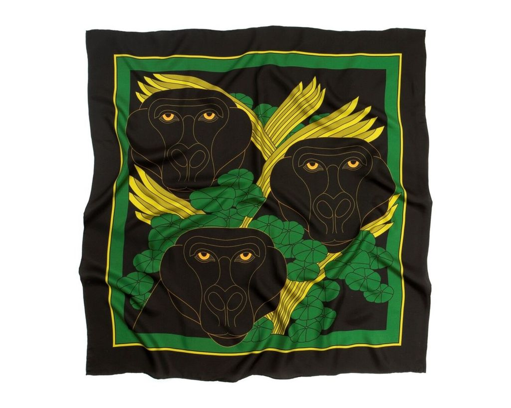 skarfe AMANDA TESTA for skarfe - Gorilla Scarf - Silk