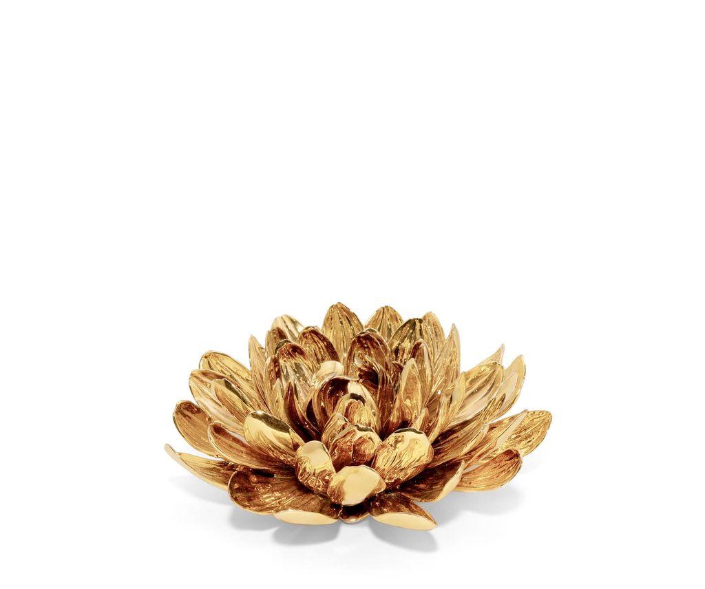 AERIN - Gilded Porcelain Dahlia Flower