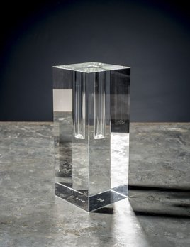 BECKER MINTY BECKER MINTY - Crystal Glass Bud Vase - Short - 8x8x20cm