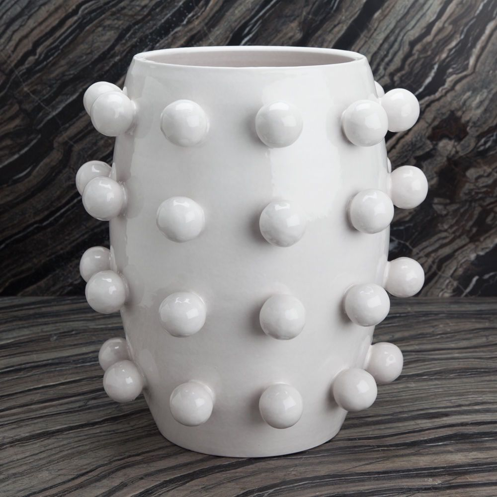 "Kelly Wearstler Kelly Wearstler - Pop Vase - White Ceramic - 16 ½"" H x 9"" W"