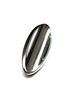 B.M.V.A. Solid Silver Brooch - Concave Oval Shaped Modernist Brooch. - Hans Hansen - Denmark c.1950