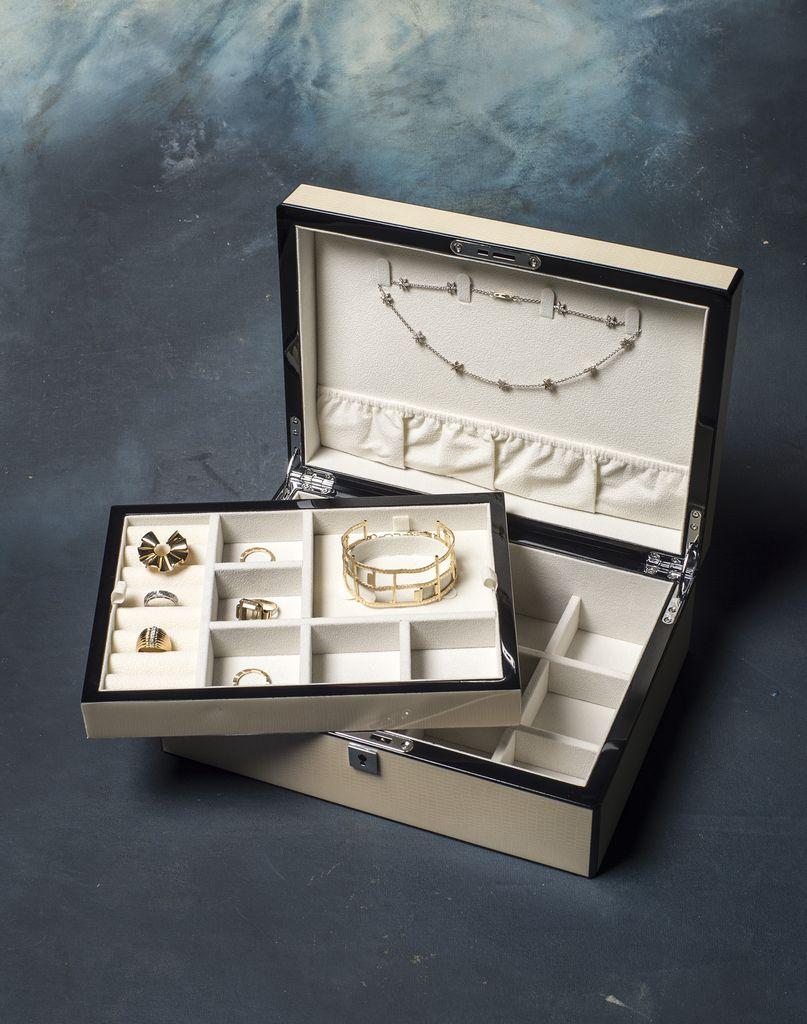 BECKER MINTY BECKER MINTY - Ivory Jewellery Box - L24xD20xH10cm