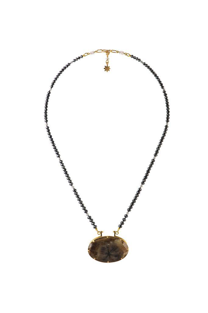 Lisa black jewellery black diamond star sapphire necklace black lisa black jewellery black diamond star sapphire necklace black diamonds with rare black chatoyance mozeypictures Choice Image
