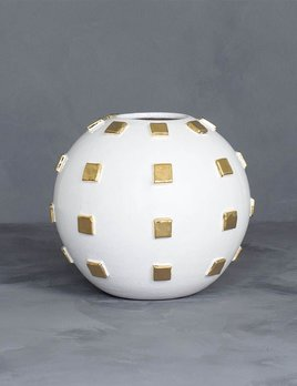 Kelly Wearstler Kelly Wearstler - Chalet Round Vase - Gold - D8""