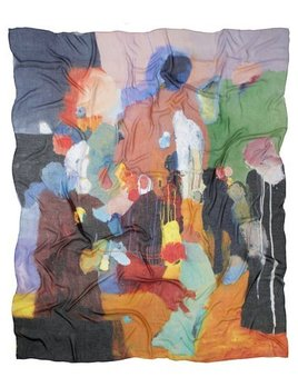 skarfe Karen Black for Skarfe - Silk - 136X170cm, Cashmere Modal, Hand-Rolled Hems