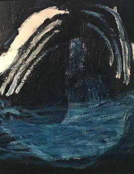 Oil on Board - Antonia Mrljak - 61x61cm (64.5x64.5cm framed) - 2017