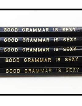 Fly Paper Products Good Grammar is Sexy Pencil Set - Handmade in Michigan