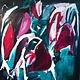 Acrylic on Canvas - Antonia Mrljak - 127x127cm (130x130cm framed) - 2017