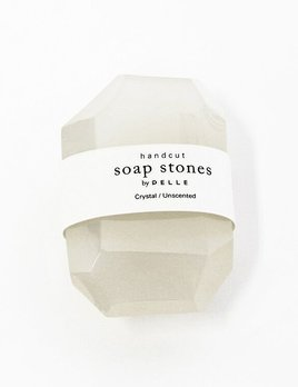 the collected co Pelle Handcut Soap Stones - Crystal - Unscented - 6oz