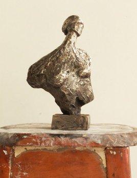 Thomas Bucich - Blind Seer - Denied Seer Cast Stainless Steel Sculpture - 31cm H x 19cm W x 13cm D - Australia