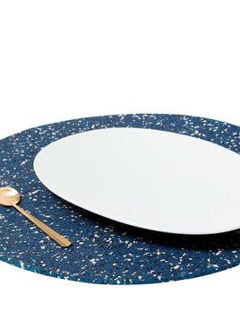 Slash Projects Rubber Placemat - Blue Rubber Placemat - Handmade in Brooklyn - 38cm