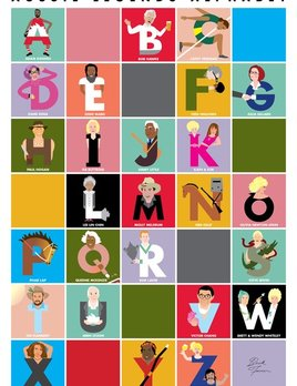 Beck Feiner Aussie Legends Alphabet Poster - Illustrated by Beck Feiner