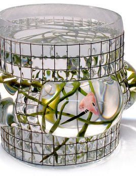 Vanessa Mitrani Creations Vanessa Mitrani - Aquarius Collection - PANORAMIC Aquarium/Fish Tank or Vase - 25cm H x 20cm D - France