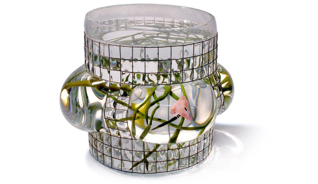 Vanessa Mitrani Creations Vanessa Mitrani - Aquarius Collection - PANORAMIC Aquarium/Fish Tank or Vase - 25cm H x 20cm D - France