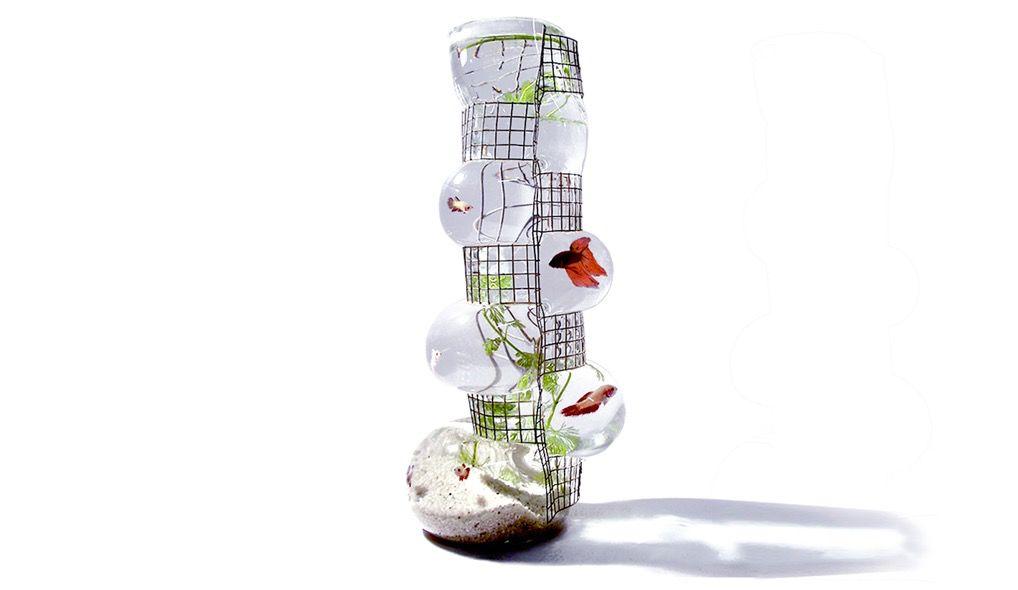 Vanessa Mitrani Creations Vanessa Mitrani - Aquarius Collection - BUILDING Aquarium/Fish Tank or Vase - 45cm H - France