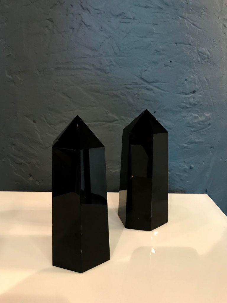 Black Obsidion Points H15-17cm