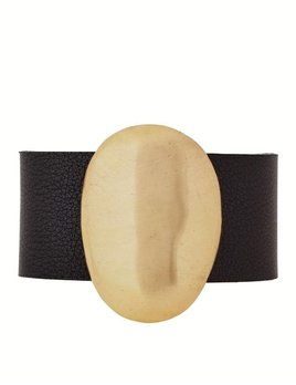 Julie Cohn Jullie Cohn Bronze Boulder Leather Bracelet - Handcrafted in the USA