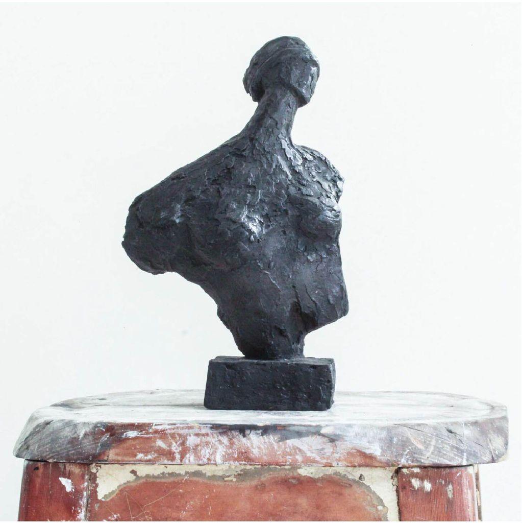 Thomas Bucich - Blind Seer - Denied Seer Cast Bronze Sculpture - 31cm H x 19cm W x 13cm D - Australia