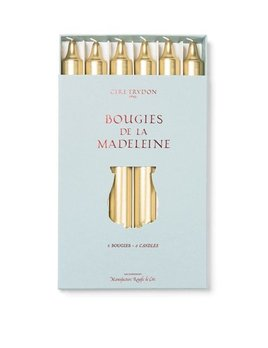 Cire Trudon Madeleine Taper Candles - Boxed set of 6 - Gold - 20cm
