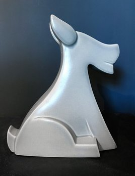 fdc FDC - Rocking Horse - Crackle Glaze Ceramic - Off White - H29cm