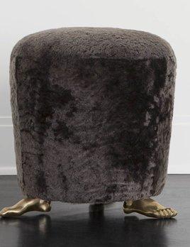 Kelly Wearstler Kelly Wearstler - Foot Stool - Mink Shearling