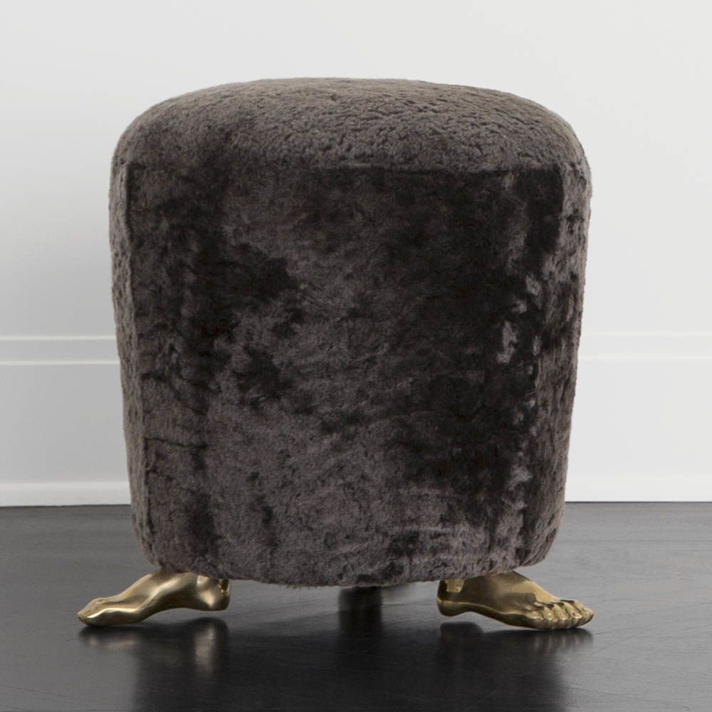 Kelly Wearstler Kelly Wearstler - Foot Stool - Mink Shearling