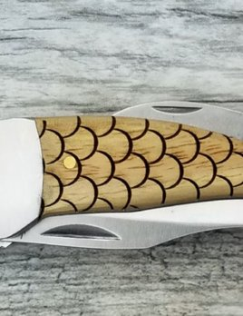 Sterling Brooke Sterling Brooke - Pocket Knife - Stainless Steel and White Oak - Hand finished in Florida