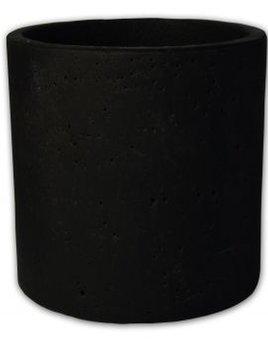 zakkia homewares Small concrete pot or planter - Black -  Measures 13.5 cm in diameter and 13.5cm high.