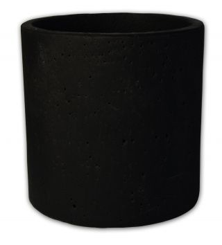 zakkia homewares Small concrete pot or planter - Black -  Measures 13.5 cm in diameter and 13.5cm high.