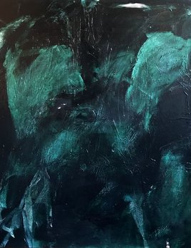 Acrylic on Canvas - Antonia Mrljak - 127x127cm (130x130cm framed) - Timber Shadow Frame 2017